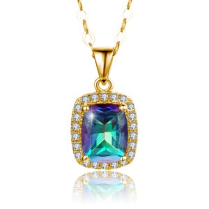 Dazzler Necklace Gold (Mystic Fire Topaz)