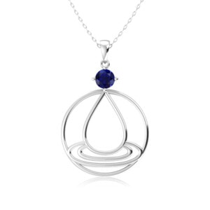 Elements Necklace Silver Water (Sapphire)