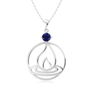 Elements Necklace Silver Fire (Sapphire)