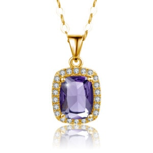 Dazzler Necklace Gold (Amethyst)