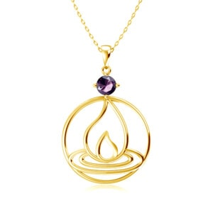 Elements Necklace Gold Fire (Amethyst)