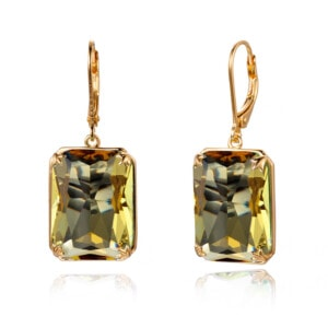 Soleil Earrings Gold (Topaz)