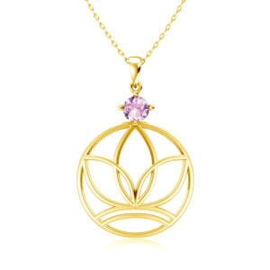Elements Necklace Gold Earth (Pink Tourmaline)