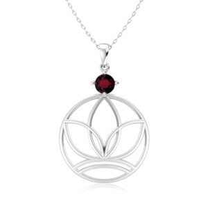 Elements Necklace Silver Earth (Garnet)