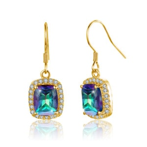 Dazzler Earrings Gold (Mystic Fire Topaz)
