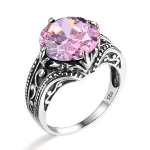 Victoria Ring Silver (Pink Tourmaline)