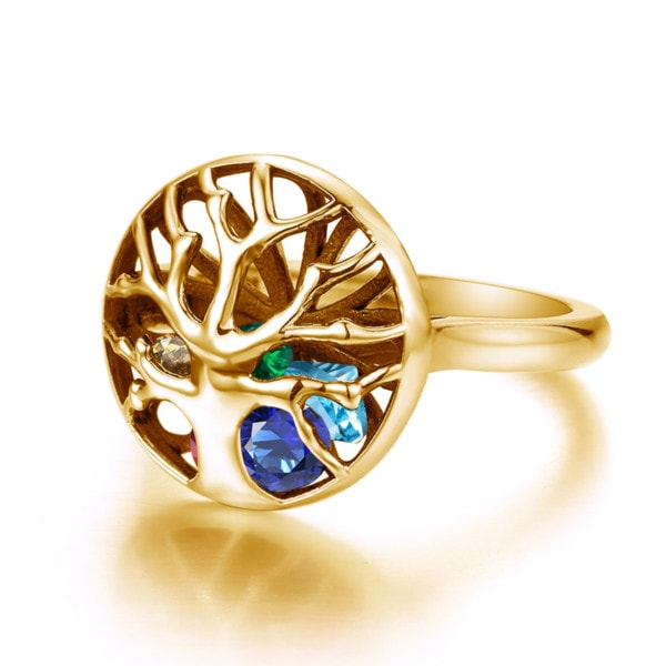 Family Tree Ring Gold (up to 8 stones)