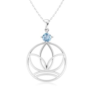 Elements Necklace Silver Earth (Aquamarine)
