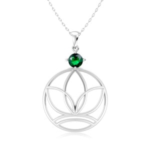 Elements Necklace Silver Earth (Emerald)