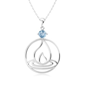 Elements Necklace Silver Fire (Aquamarine)