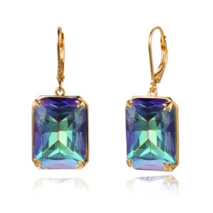 Soleil Earrings Gold (Mystic Fire Topaz)