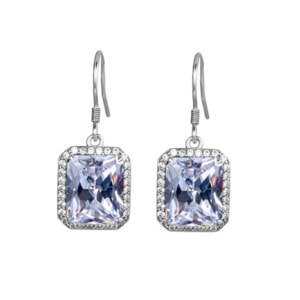 Revere Earrings Silver (Diamond)