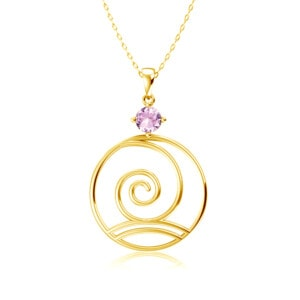 Elements Necklace Gold Wind (Pink Tourmaline)