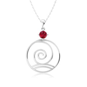 Elements Necklace Silver Wind (Ruby)