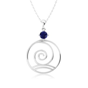 Elements Necklace Silver Wind (Sapphire)