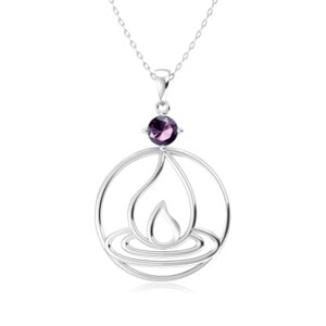 Elements Necklace Silver Fire (Amethyst)