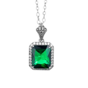 Revere Necklace Silver (Emerald)
