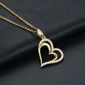 Love Heart Necklace Gold (Diamond)
