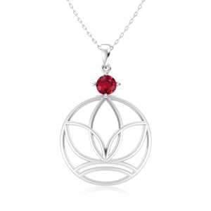 Elements Necklace Silver Earth (Ruby)