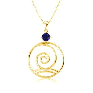 Elements Necklace Gold Wind (Sapphire)