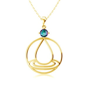 Elements Necklace Gold Water (Mystic Fire Topaz)