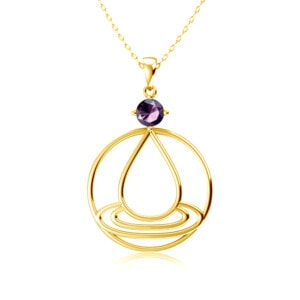 Elements Necklace Gold Water (Amethyst)