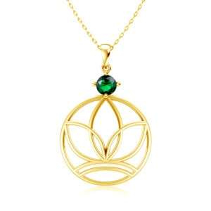 Elements Necklace Gold Earth (Emerald)