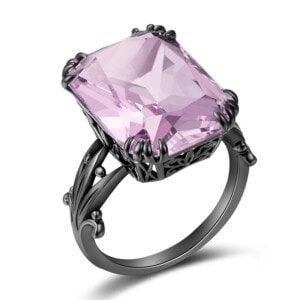 Stunner Ring Black (Pink Tourmaline)