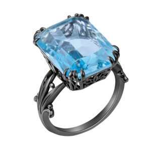 Stunner Ring Black (Aquamarine)