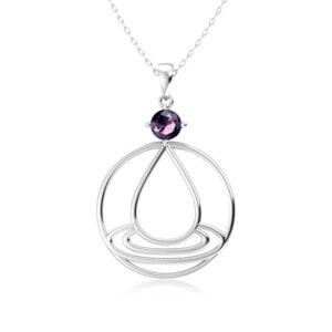 Elements Necklace Silver Water (Amethyst)