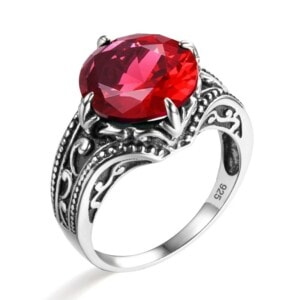 Victoria Ring Silver (Ruby)