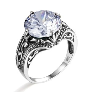 Victoria Ring Silver (Diamond)