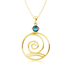 Elements Necklace Gold Wind (Mystic Fire Topaz)