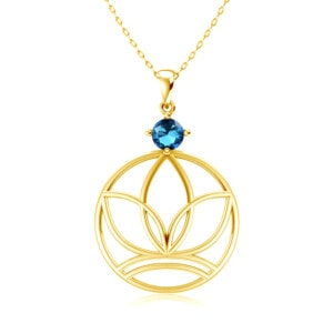 Elements Necklace Gold Earth (Blue Topaz)
