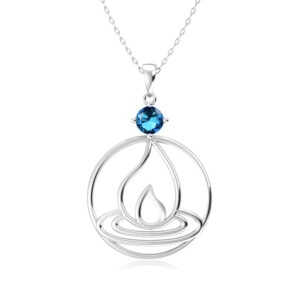 Elements Necklace Silver Fire (Blue Topaz)