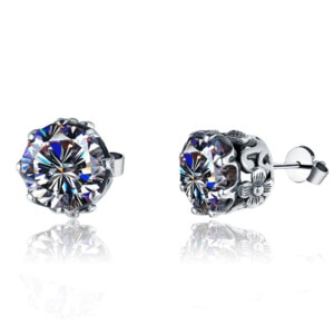Lure Stud Earrings Silver (Diamond)