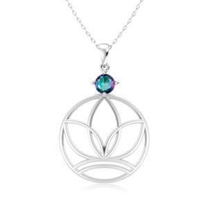 Elements Necklace Silver Earth (Mystic Fire Topaz)