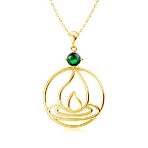 Elements Necklace Gold Fire (Emerald)