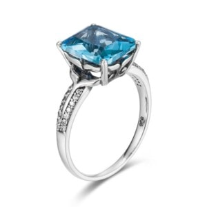 Mystique Ring Silver (Aquamarine)