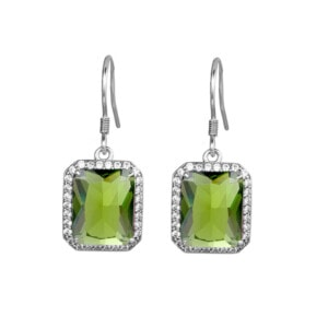 Revere Earrings Silver (Peridot)