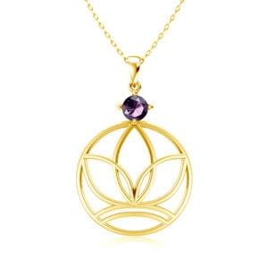 Elements Necklace Gold Earth (Amethyst)