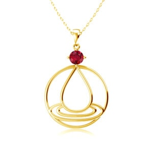 Elements Necklace Gold Water (Ruby)