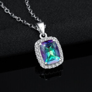 Dazzler Necklace Silver (Mystic Fire Topaz)