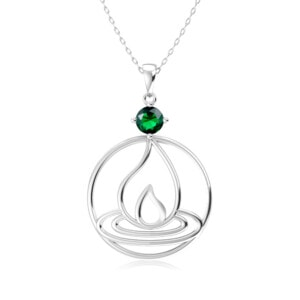 Elements Necklace Silver Fire (Emerald)