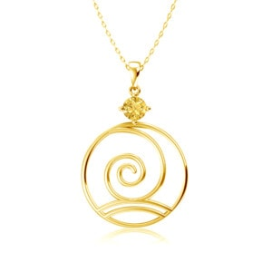 Elements Necklace Gold Wind (Topaz)