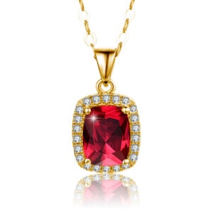 Dazzler Necklace Gold (Ruby)