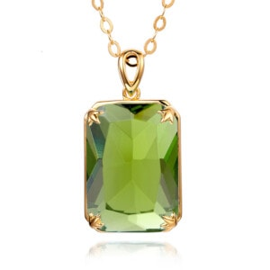 Soleil Necklace Gold (Peridot)