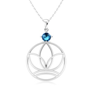 Elements Necklace Silver Earth (Blue Topaz)