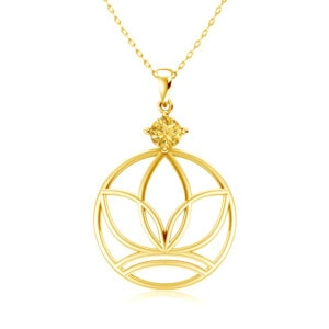 Elements Necklace Gold Earth (Topaz)