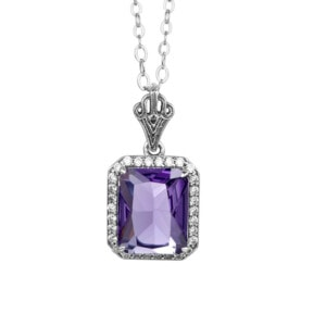 Revere Necklace Silver (Amethyst)